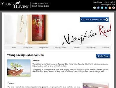 NingXia Red Header Image with Promo Box